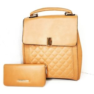Jolene Couture Taupe Backpack/ Wallet